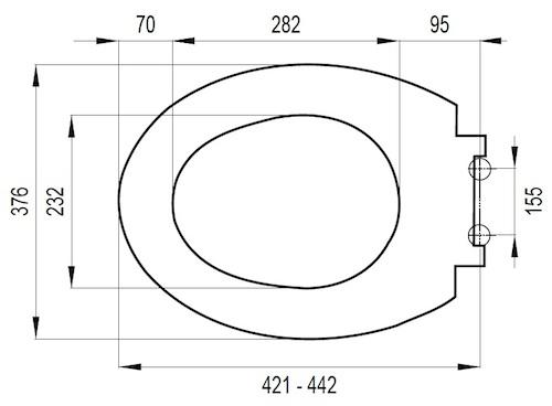 Hervorragend WC Sitz passend für Keramag Vitalis Absenkautomatik VX02