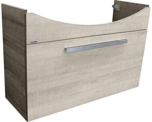 Fackelmann A-Vero Waschtischunterschrank Schublade Graueiche-Optik 99cm Breite