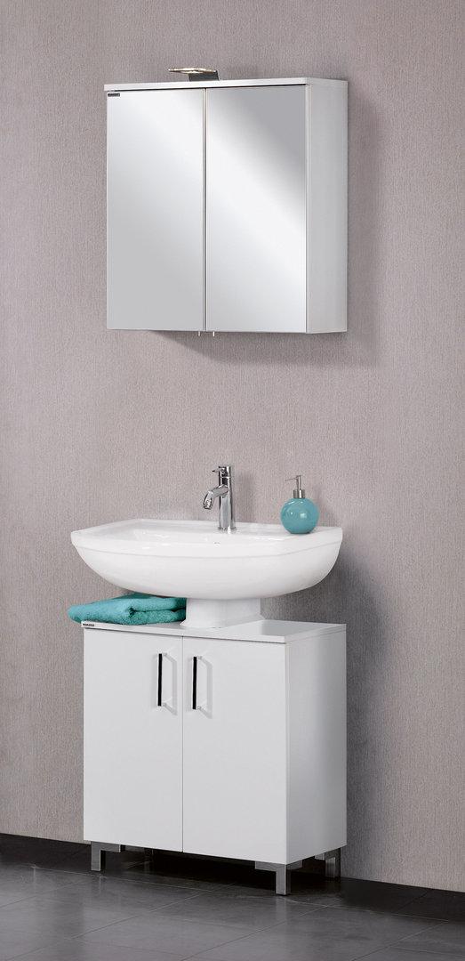 fackelmann atl 60 spiegelschrank 61 cm led leuchte korpus farbe. Black Bedroom Furniture Sets. Home Design Ideas