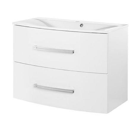 Fackelmann Lugano Waschtisch-Unterbau Breite 80 cm Farbe Weiß-glanz
