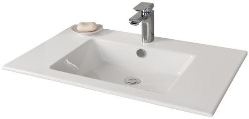 Fackelmann Kera 810 Waschtisch aus Keramik Farbe Weiß 81 cm Breite
