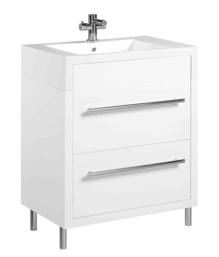 Tiger Serie Boston Waschtisch-Unterschrank Weiß mit Schubladen Br