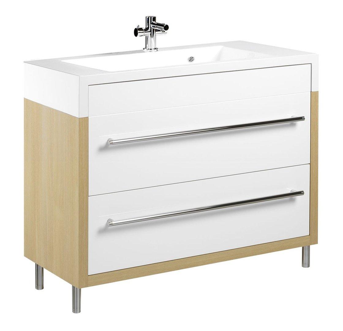 tiger serie boston waschtisch unterschrank wei eiche mit. Black Bedroom Furniture Sets. Home Design Ideas