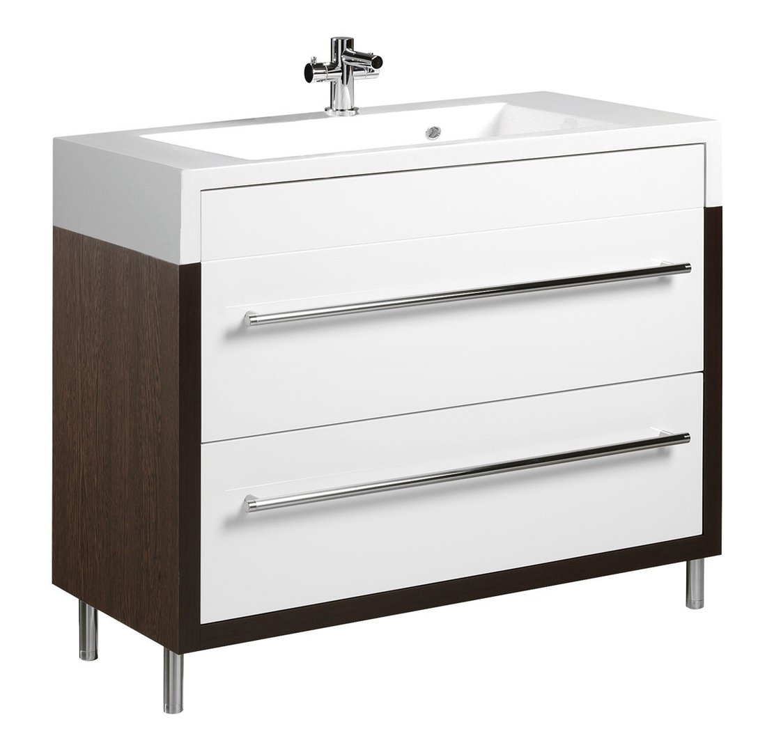 tiger serie boston waschtisch unterschrank wei wenge mit. Black Bedroom Furniture Sets. Home Design Ideas