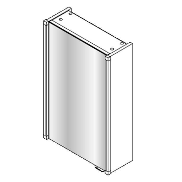 Fackelmann Spiegelschrank 42,5 cm mit 2 Led-Beleuchtungen 2 x 6 W