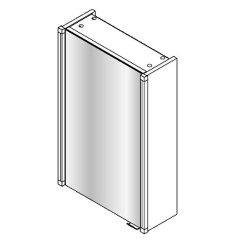 Fackelmann Spiegelschrank 42,5 cm mit 2 Led-Beleuchtungen 2 x 6 Watt