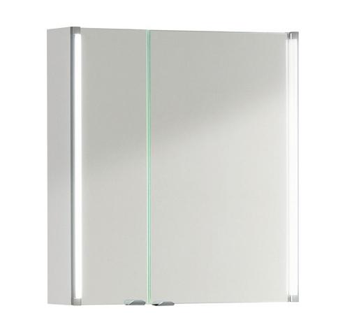 Fackelmann Spiegelschrank 61 cm LED Beleuchtung Korpus Farbe Weiß-glanz