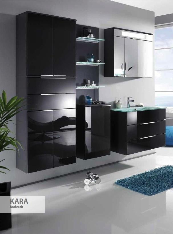 kara waschtisch unterbau breite 80 cm in der farbe wei anthrazit. Black Bedroom Furniture Sets. Home Design Ideas