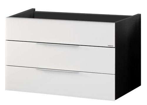 Fackelmann Kara Waschtisch-Unterbau Breite 80 cm in der Farbe Weiß/Anthrazit