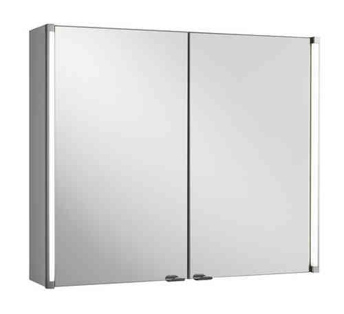 Fackelmann Spiegelschrank Breite 81 cm mit LED-Beleuchtung 2x 6 Watt