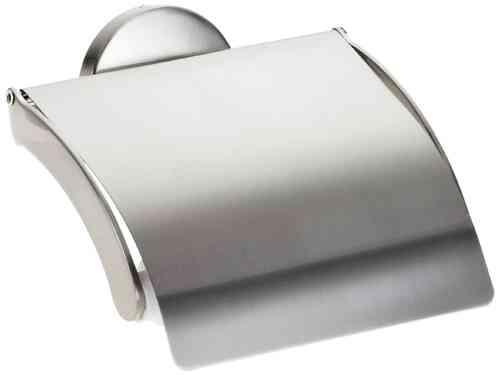 Fackelmann Fusion Toilettenpapier-Halter vernickelt gebürstete Edelstahl Optik