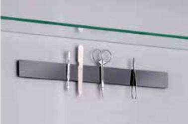 Fackelmann Magnetleiste Selbstklebestreifen im Spiegelschrank oder Fliesen