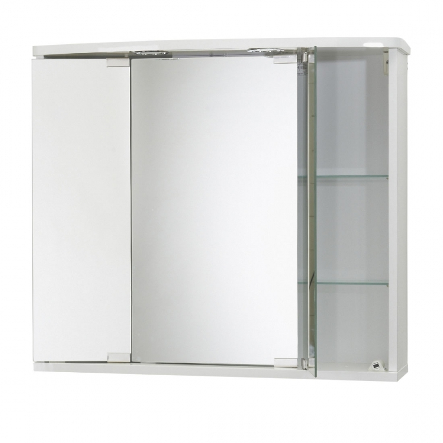Jokey Funa LED Farbe Weiß Spiegelschrank MDF/Holz Maße (B/H/T) 68 | {Spiegelschrank holz weiß 83}