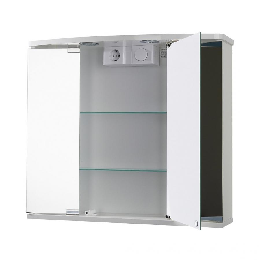 Jokey Funa LED Farbe Weiß Spiegelschrank MDF/Holz Maße (B/H/T) 68 | {Spiegelschrank holz weiß 26}