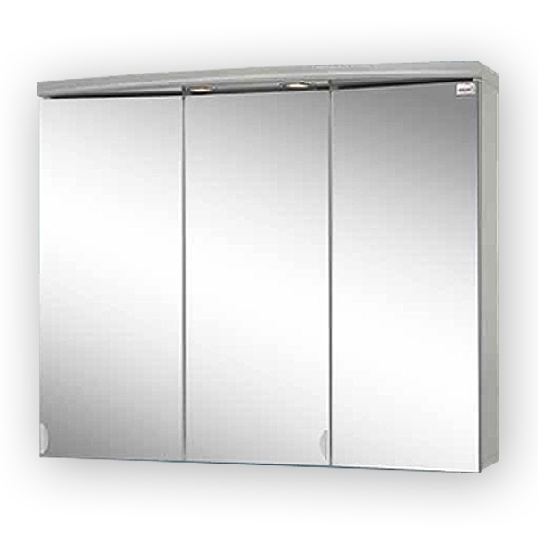 sieper ancona led alufarben spiegelschrank aus mdf holz ma e b h. Black Bedroom Furniture Sets. Home Design Ideas