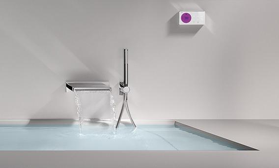 Elektronische Unterputz Thermostatarmatur Zulauf über Badewanne | {Badewannen armaturen unterputz 68}