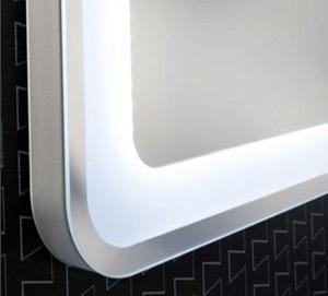 Lanzet spiegelelement m9 mit led beleuchtung umlaufend und for Spiegel 90x60