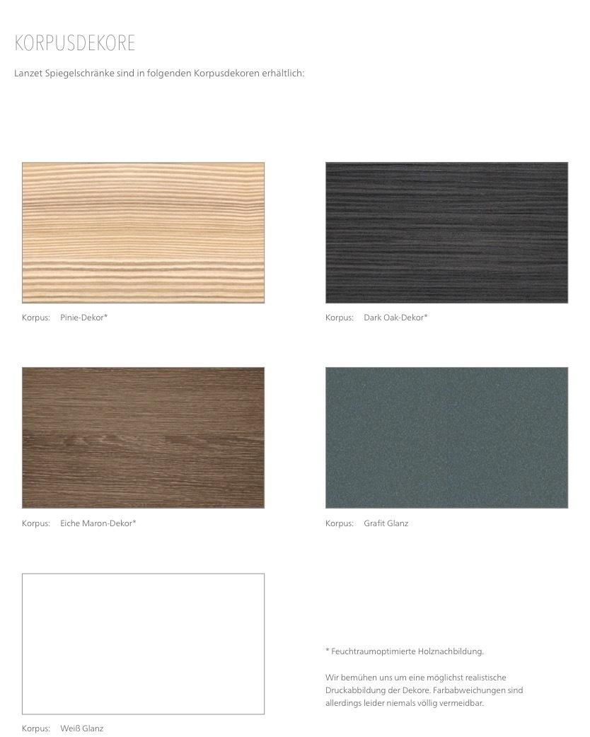 lanzet spiegelschrank m9 mit led beleuchtung korpus farbe. Black Bedroom Furniture Sets. Home Design Ideas