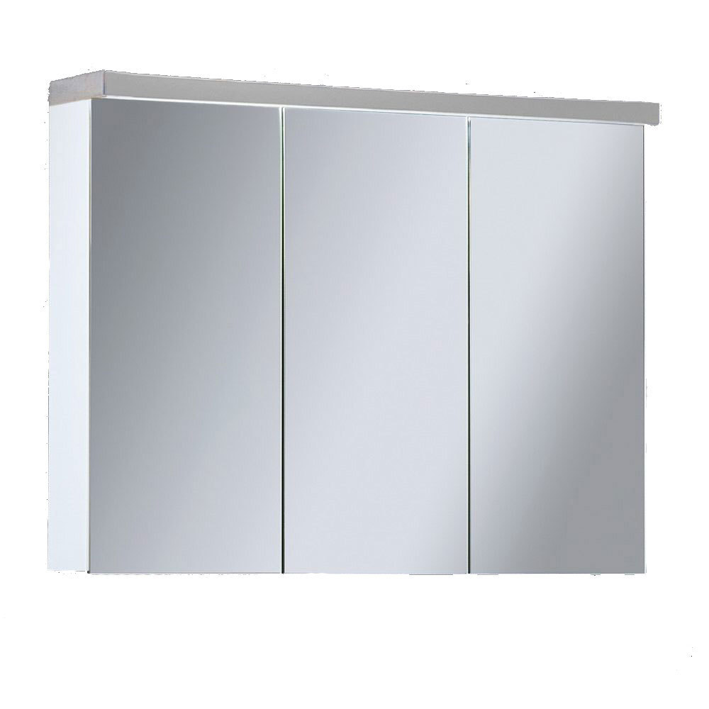 lanzet spiegelschrank l3 leuchte 2 t ren korpus farbe eiche maron. Black Bedroom Furniture Sets. Home Design Ideas