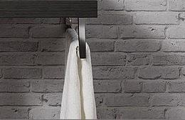 Fackelmann 1er-Set Handtuchhalter Träger Farbe Chrom mit Befestigungsmaterial