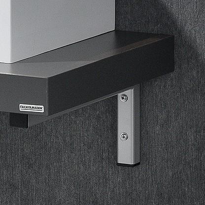 Fackelmann 1er-Set Winkelhalter Träger Farbe Grau mit Befestigungsmaterial