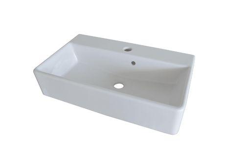 Fackelmann iX Waschtisch Keramik kubisch Breite 60 cm in Farbe Weiß