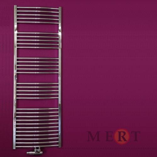 Badheizkörper Mittelanschluss gebogen Farbe Chrom Maße 600 x 1200 mm