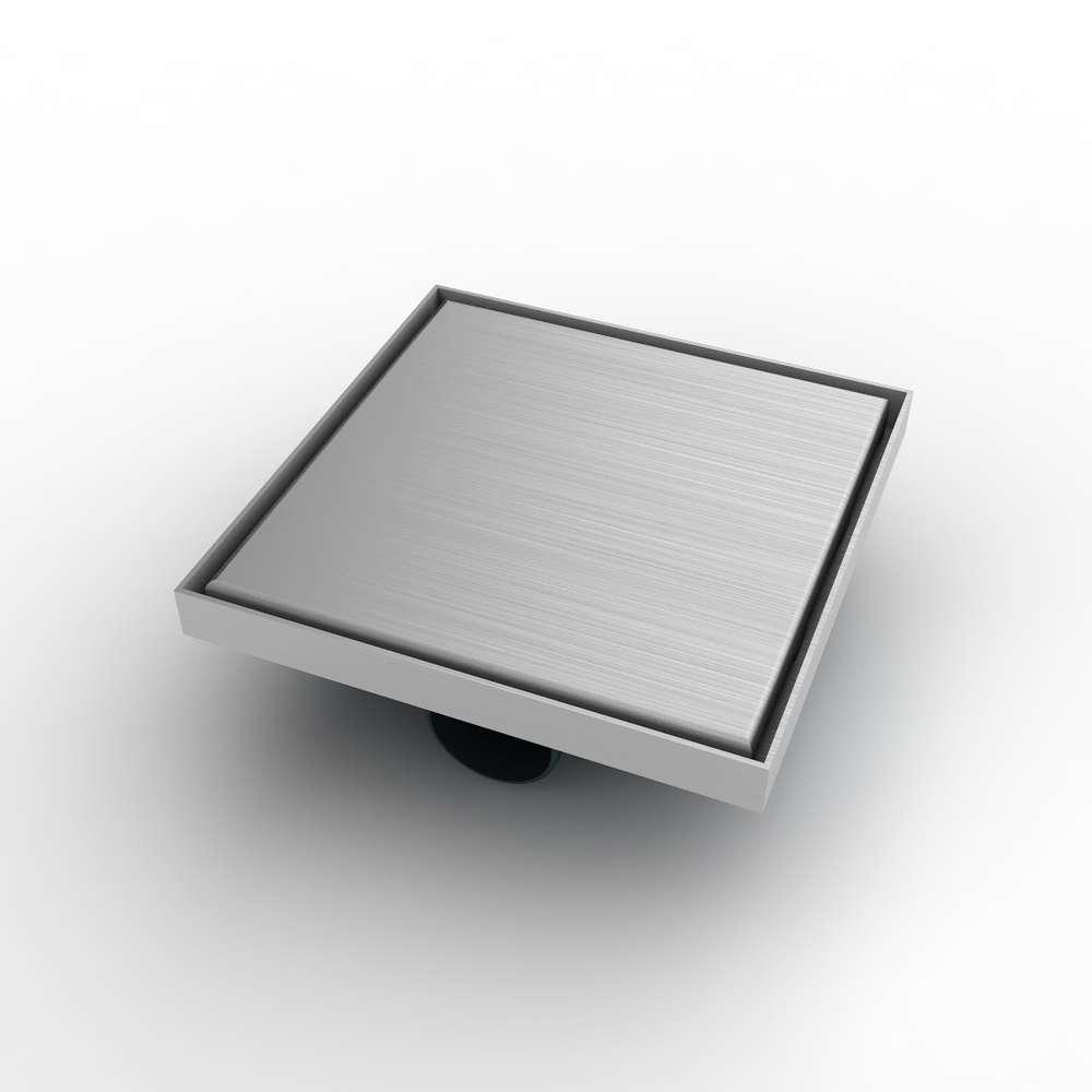 Bodenablauf mit Edelstahlrahmen und Edelstahl Rost (304) 200x200