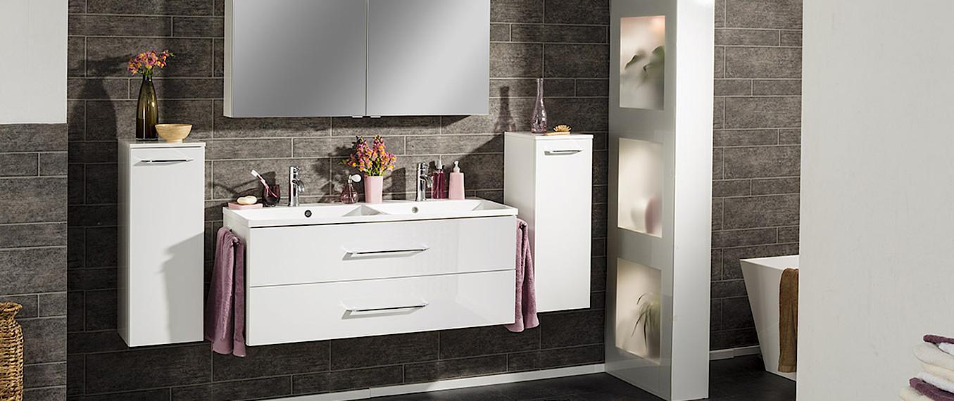 fackelmann waschtisch mit unterschrank 60 cm wei wei. Black Bedroom Furniture Sets. Home Design Ideas