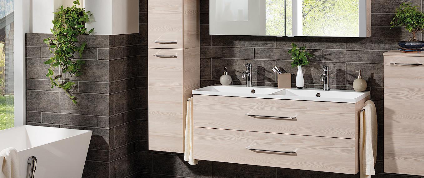 fackelmann waschtisch mit unterschrank 120 farbe ulme. Black Bedroom Furniture Sets. Home Design Ideas