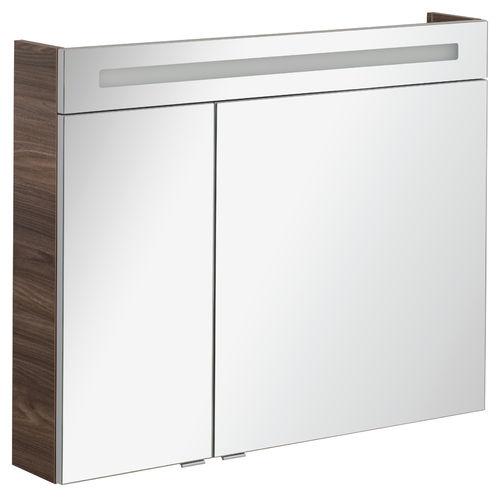 Fackelmann B.clever LED Spiegelschrank 7,7 Watt 90 cm Breite Farbe Weiß