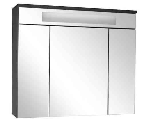 Fackelmann Spiegelschrank LED-Beleuchtung Kara 80 cm Farbe Anthrazit/Weiß