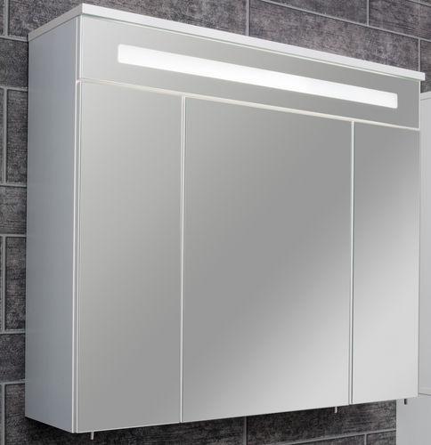 Fackelmann Spiegelschrank LED-Beleuchtung Kara 80 cm komplett Farbe Weiß