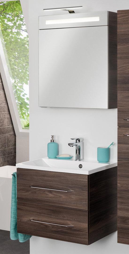 fackelmann badm bel set spiegelschrank b 60 w hlbar nano. Black Bedroom Furniture Sets. Home Design Ideas