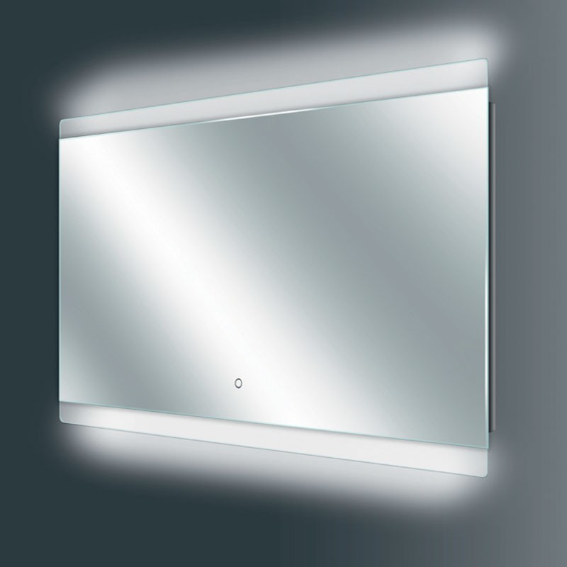 thebalux touch led spiegel heizung 3 lichtstufen 80x60cm nano. Black Bedroom Furniture Sets. Home Design Ideas