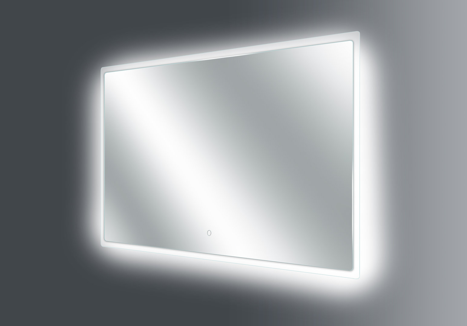 thebalux brigth led spiegel heizung 3 lichtstufen 100x60cm nano. Black Bedroom Furniture Sets. Home Design Ideas