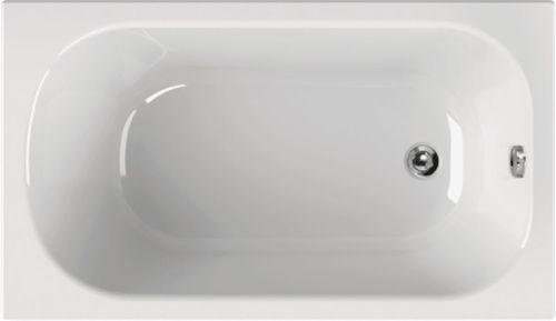 Schröder Wannentechnik Korana Rechteckwanne Acryl Maße 130x70x39 cm