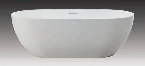 Schröder Wannentechnik Golem O Freistehende Badewanne Mineralmarmor 169x80x56 cm