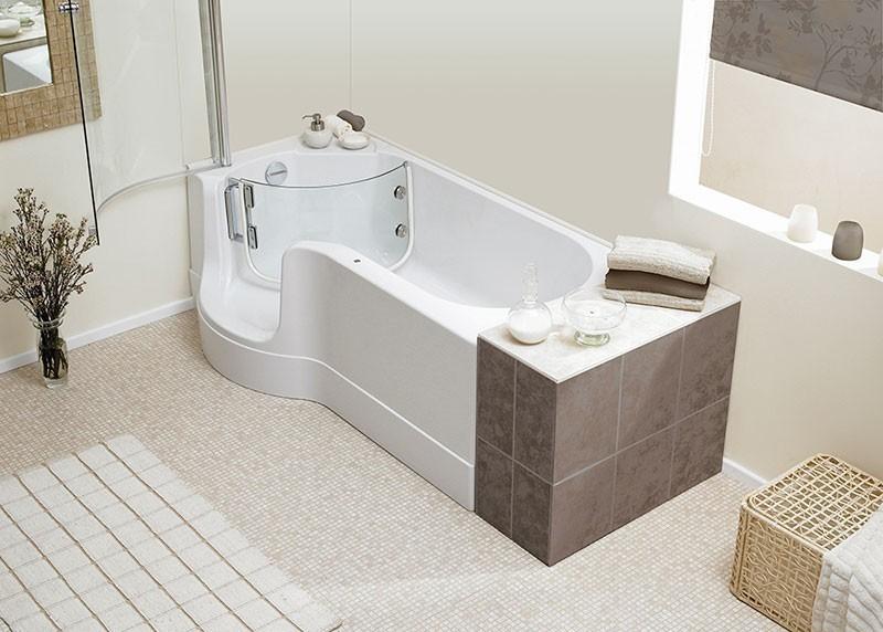 schr der pazifik links badewanne mit t r inkl sch rze 170x75 94c. Black Bedroom Furniture Sets. Home Design Ideas