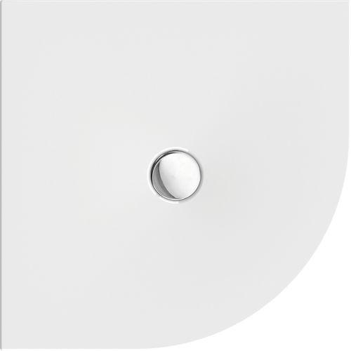 Schröder Wannentechnik Flat New Viertelkreis-Duschwanne Acryl 90x90x1,5 cm