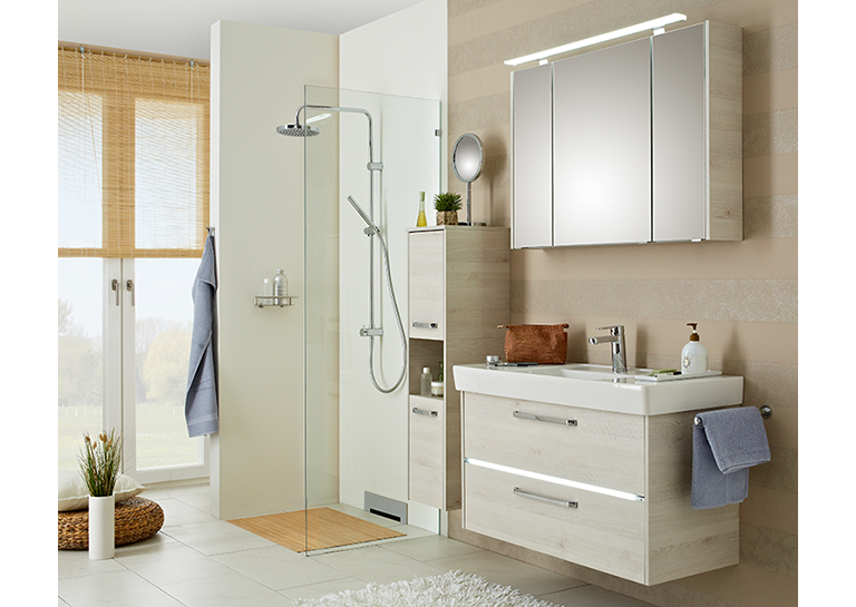 pelipal fokus 3050 wandschrank farbe wei hochglanz betonoptik. Black Bedroom Furniture Sets. Home Design Ideas