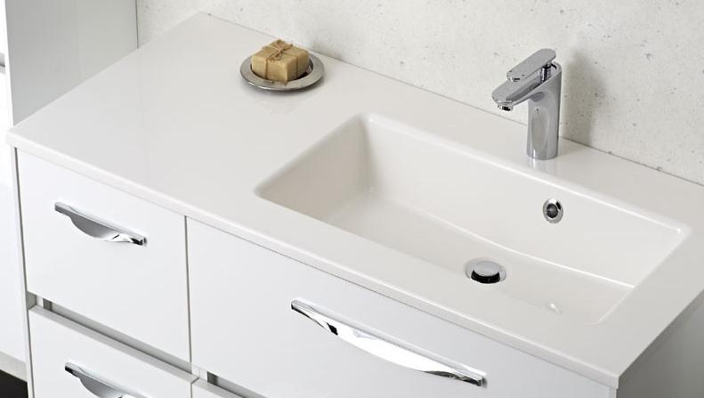 pelipal solitaire 6010 mineralmarmor waschtisch farbe wei 113 cm. Black Bedroom Furniture Sets. Home Design Ideas