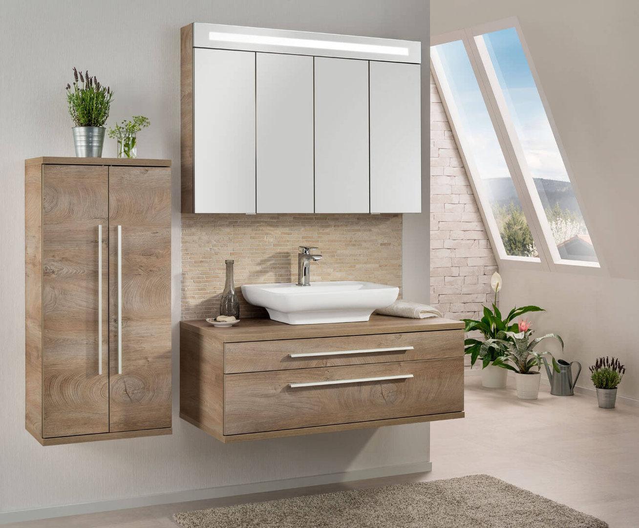 fackelmann stanford waschtisch unterschrank wei eiche natur. Black Bedroom Furniture Sets. Home Design Ideas