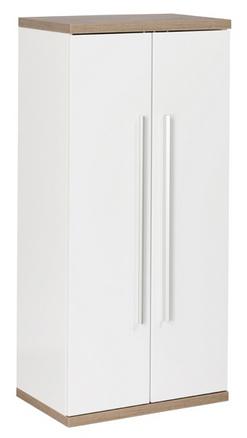 Fackelmann Stanford Doppel-Midischrank Weiß / Eiche-Natur Breite 50,5 cm