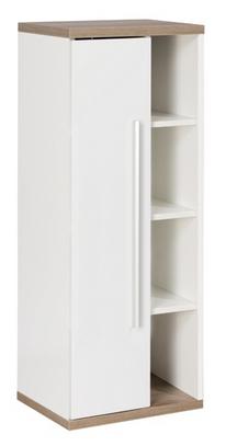 Fackelmann Stanford Midischrank-Fach links Weiß / Eiche-Natur Breite 42 cm