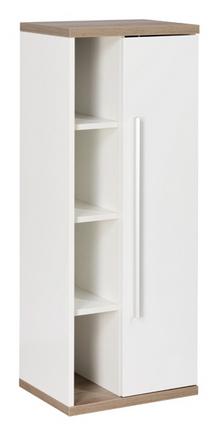 Fackelmann Stanford Midischrank-Fach rechts Weiß / Eiche-Natur Breite 42 cm