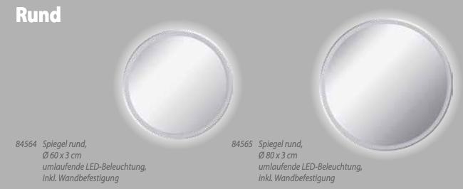 Fackelmann Spiegel Rund 60 Cm Beleuchtung Inklusive Befestigung