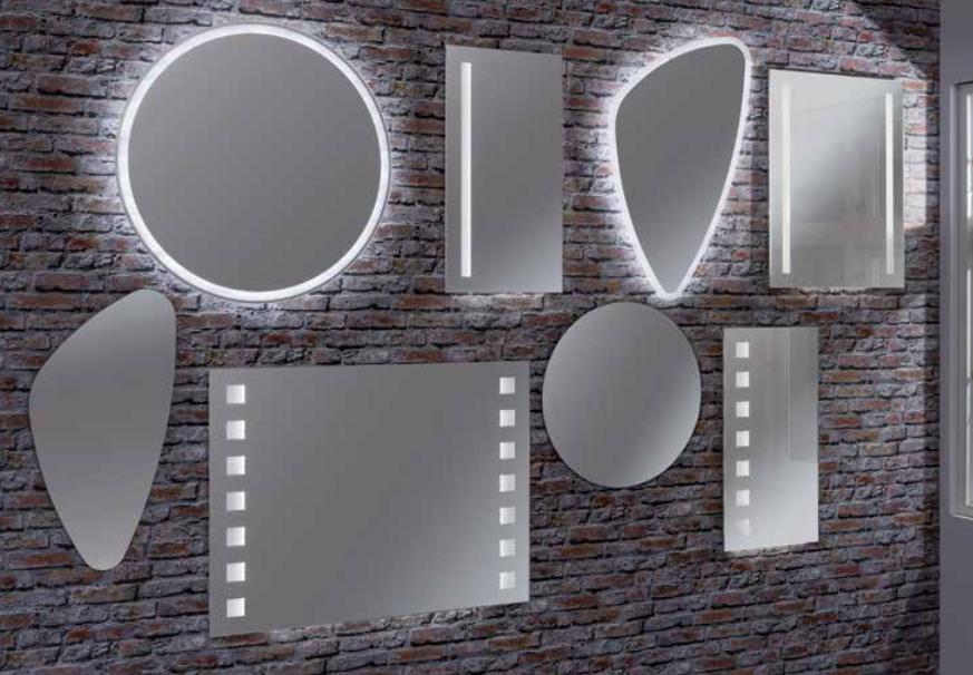Spiegel 100 Cm : Spiegelschrank cardiff graphitgraue melaminoberflächen u breite