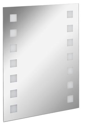 Fackelmann Spiegel Karo 60 cm LED-Beleuchtung inklusive Befestigung