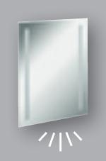 Fackelmann Spiegel Linear 60 cm LED-Beleuchtung und Ambientebeleuchtung
